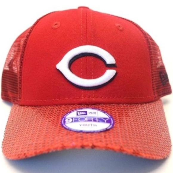 huge discount 64ee0 a1a01 Youth New Era Cincinnati Reds 9Forty Trucker Cap